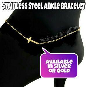 Jewelry - Stainless Steel Cross Ankle Bracelet/Anklet